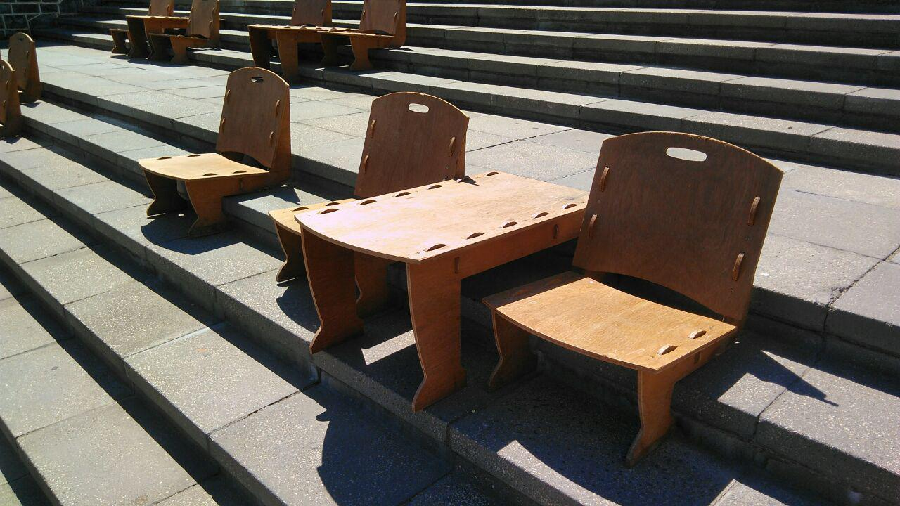Stair-Chairs for V&A Waterfront